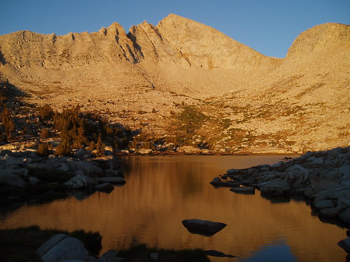 Upper Recess Peak Lake Alpenglow