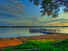 Lake Andrews [HDR] (KoRaYeM) Tags: trees sunset favorite lake tree nature grass minnesota photoshop landscape geotagged fishing sand unitedstatesofamerica vivid deck finepix personalfavorite z3 hdr lightroom waterscape willmar photogallery photomatix cotcmostfavorited 5xp 25faves 5for2 raziks20 diamondclassphotographer flickrdiamond eyegrabber vividmasters sibleystatepark lakeandrew korayem geo:lat=4531546 geo:lon=95045127