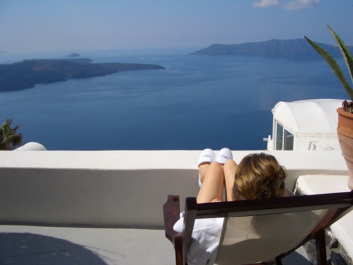 Enjoying the Greek Sun, Santorini
