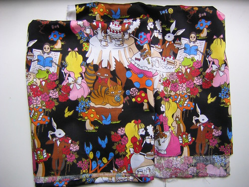 Alice in Wonderland fabric
