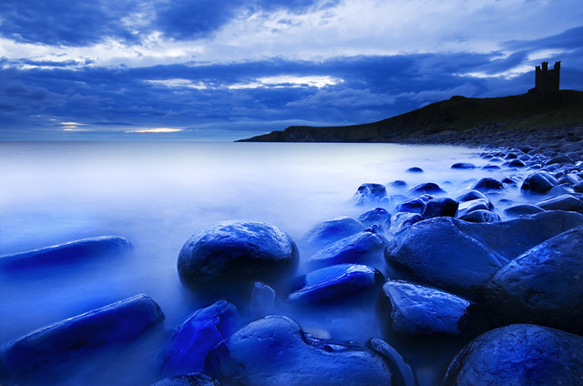 Blue Rocks at Dunstanburgh Castle