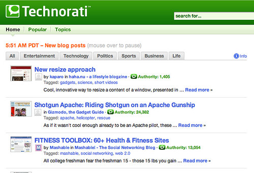Technorati Topics