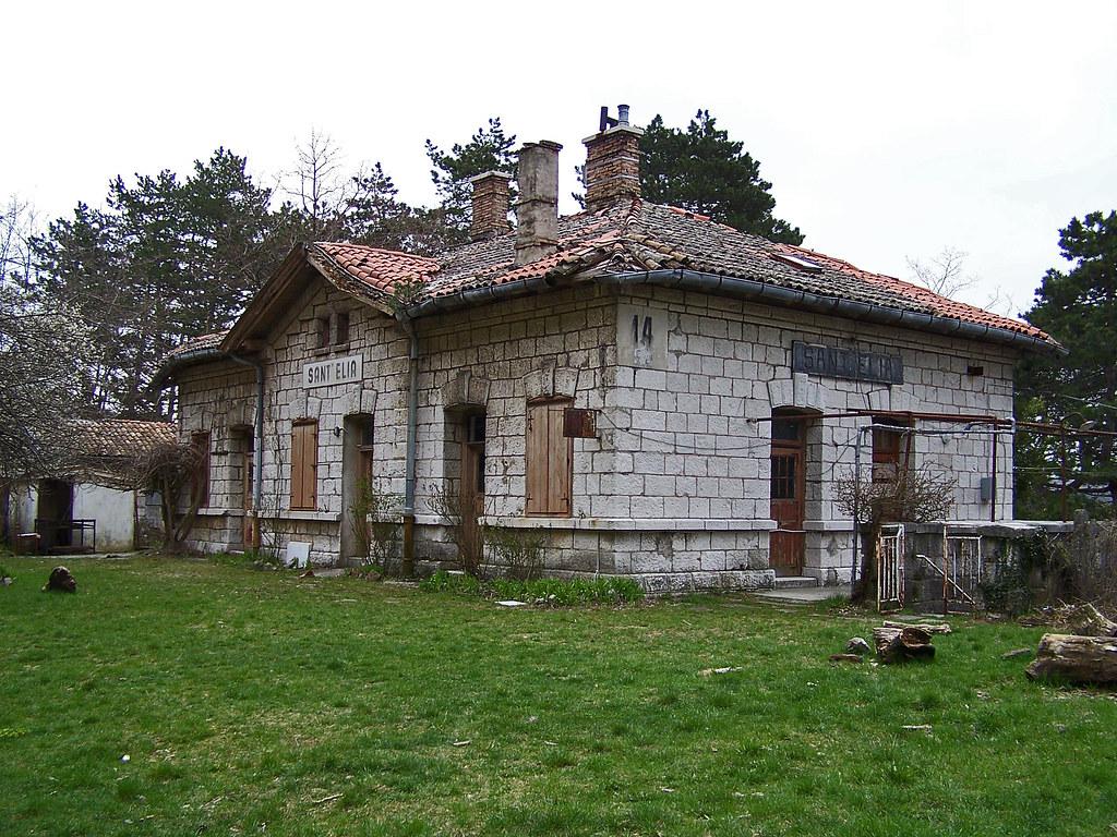Vecchia stazione di Draga Sant'Elia