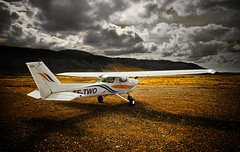 TF-TWO ... (asmundur) Tags: light sky clouds airplane iceland ground stop toned mutedcolors 2xp nohdr handblended manualblend