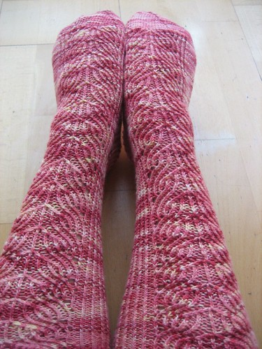 Dahlia socks, finished!