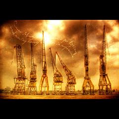 Giraffa Camelopardalis (Dimitri Depaepe) Tags: bravo iron searchthebest belgium belgie cranes antwerp machines dictionary hdr antwerpen themoulinrouge artlibre superhearts xoxoxoxoxoxoxoxoxoxox theroadtoheaven dotakecarealwaysxxxxxxx
