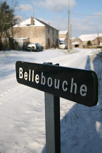 A photoset of a snowy Bellebouche