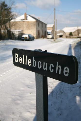 A photoset of a snowy Bellebouche