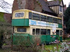 My favoured form of preservation (Fray Bentos) Tags: bus abandoned suffolk disused derelict roe doubledecker leylandatlantean ipswichboroughtransport sdx35r