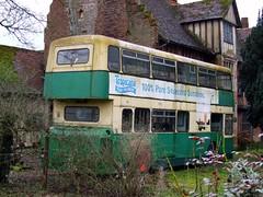 My favoured form of preservation (Fray Bentos) Tags: bus abandoned suffolk disused derelict roe doubledecker leylandatlantean ipswichboroughtransport sdx35r