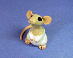 Scoodles the Dumbo Rat (DragonsAndBeasties) Tags: pet cute mouse rat critter dumbo ears gift memory hamster custom ratty pocketpet hoodedrat beccagolins