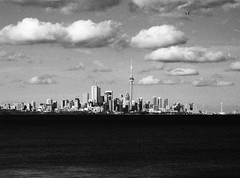 Plain Old Toronto (Jakob Rehlinger) Tags: toronto water skyline clouds cityscape cntower lakeontario