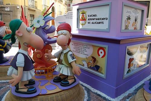 Foguera Plaza Gabriel Miró