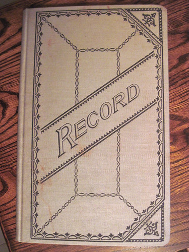 Patten House-Record Book