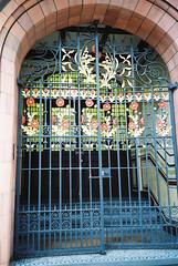Ornate Gate (Bikeygeek2010) Tags: leica film alex birmingham gate mason sunday sunny mini ornate