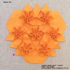 recto761 (LydiaDiard paperfolledingue) Tags: flower paper 3d origami lydia tessellation paperfolding volume lydiard diard lydiadiard