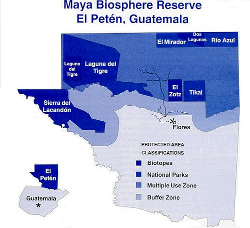 Map of the Biosfera Maya