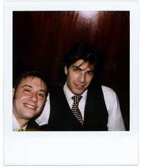 alex and jay (flybutter) Tags: nyc film polaroid financialdistrict wintergarden benefit slr680 afterparty bflat 779 flybutter miracleatgroundzero sohosynagogue beyondblacktie