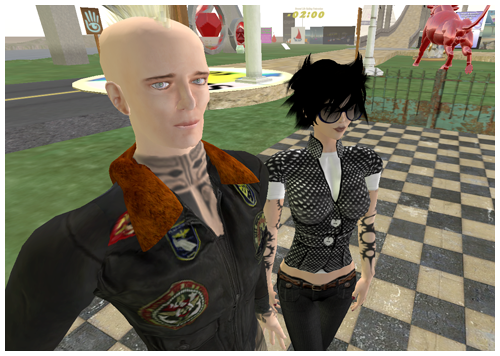 Alex and Myg tweaking SL4B Exhibit