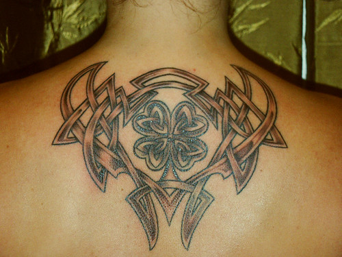 celtic shamrock tattoos. Celtic Knotwork and Shamrock.