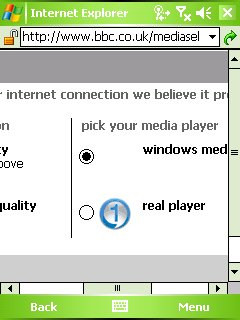 BBC Website: select video player