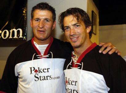 Adam Foote and Joe Sakic