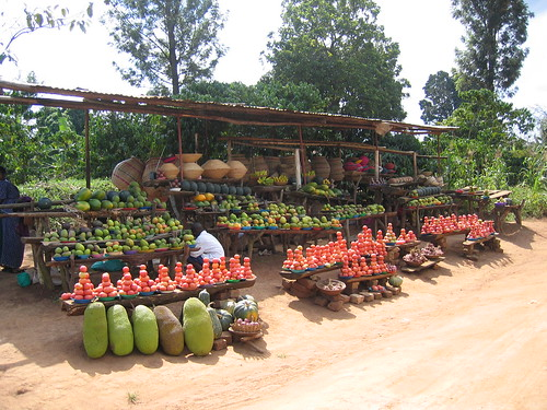 Uganda - Roadside Veggie Shop