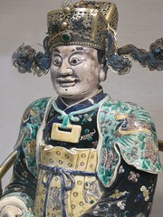 Figure Possibly the God of Wealth in his Military Aspect Qing dynasty Kangxi period late 117th-early 18th century CE (1) (mharrsch) Tags: china art museum god religion deity wealth qingdynasty kangxiperiod 17thcenturyceporcelainmetropolitan