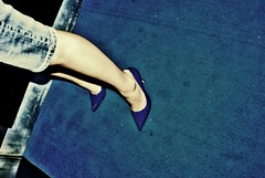 stiletto blues (Marco Graziani) Tags: blue vintage carpet legs elevator denim bluejeans bluevelvet bluecarpet stilleto superbmasterpiece stilletofetish