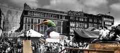 skateboarding (bdebaca) Tags: cutout mexico mexicocity skate skateboard nublado gdf hdr zocalo ciudaddemexico hdri espn mexiko tabla centrohistorico messico patineta dflickr desaturadoselectivo patineto dflickr250807 patinotron