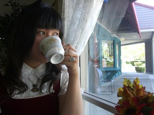 me drinking tea XD