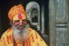 The Yellow Smile (Jeff Bauche._.·´¯)) Tags: world voyage travel nepal portrait people man film jeff smile face smiling yellow portraits photography travels faces retrato films prayer monk porträt holy roll hindu portret hinduism bard ritratto smily sadhu visage portrat holyman saddhu nepali voyages népal hindouisme pellicule bauche nepalais pellicula abigfave népalais sâdhu jeffbauche sādhu jeanfrançoisbauche anverstangogaredanseargentinreportage2008 साधु ©jeffbauche jeffbauchehotmailcom