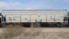 Gomes (Fr8 Fiend) Tags: car train graffiti graf whole graff hopper freight b4u wholecar rgk fr8 yod