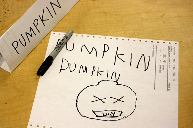 pumpkins at preschool - 5