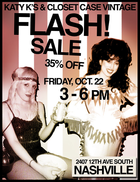 flash sale at closet case!
