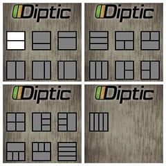 Diptic のレイアウト
