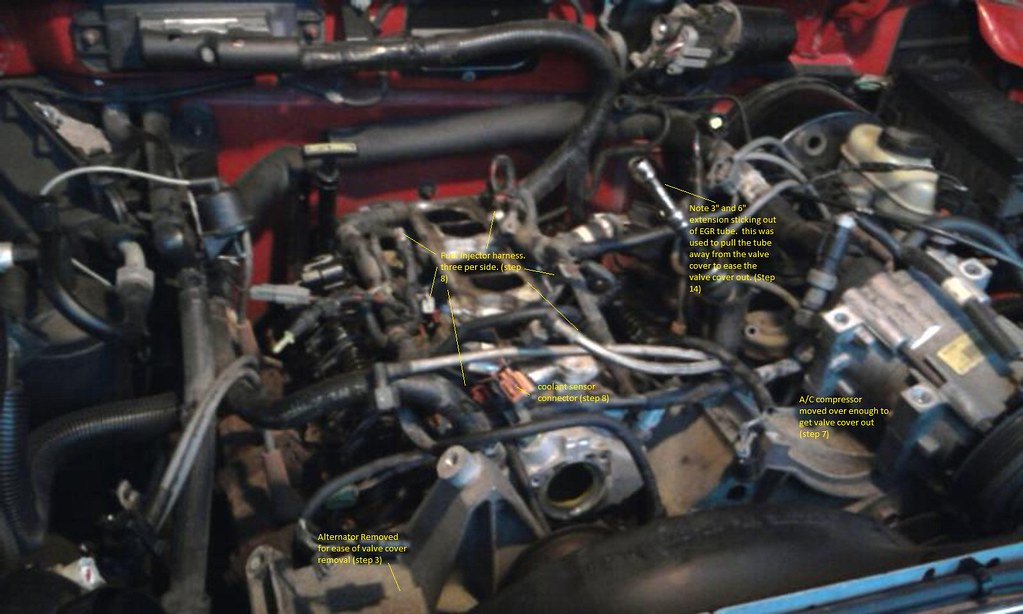 How to replace valve cover gaskets fuel rail gaskets and lower now for the valve covers please refer to pictures 40 pic 3g 40 pic 4g and 40 pic 6g freerunsca Gallery