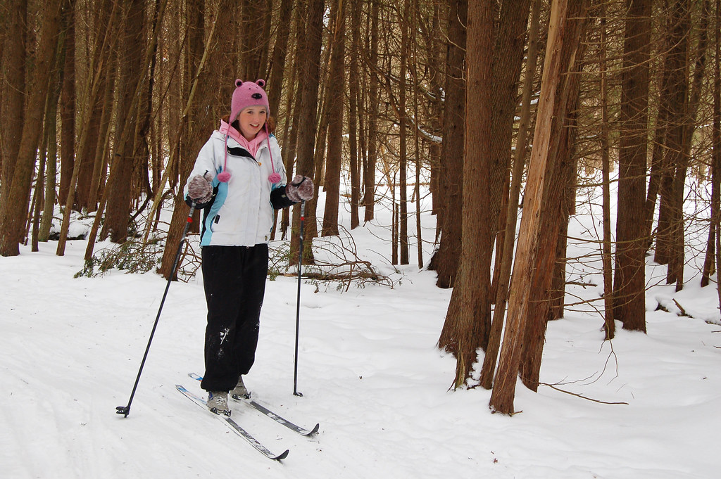 Cross-country skiing at Shade's Mills