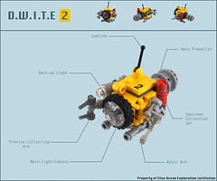D.W.I.T.E  2 (Titolian) Tags: ocean sea water office video underwater lego arm pacific probe deep science surface submarine atlantic explore claw future inves