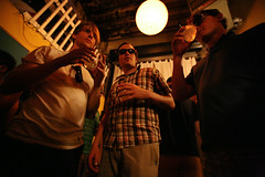 los dudes (sgoralnick) Tags: party andy william derek andyclymer whiskladle whiskandladle ginsocial eastriverbadmintonclub