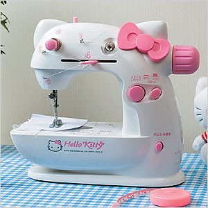 White Hello Kitty Sewing Machine