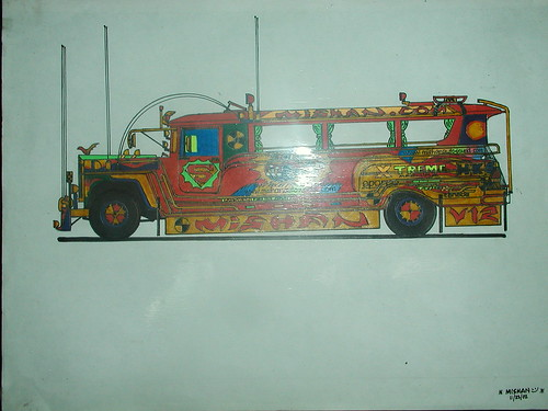 Jeep Side View Drawing my Drawing Morales Jeepney