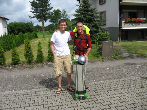With Markus, leaving GengenBach, Germany