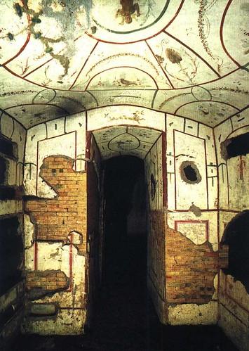 Cubiculum del Buen Pastor en la Catacumba de Domitila, S. IV, Roma