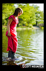 boots in the lake (scottneumyer) Tags: people portraits gabby katie trashthepromdress