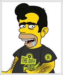 Clay as a Simpsons character