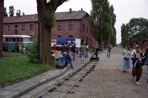 film shoot at auschwitz
