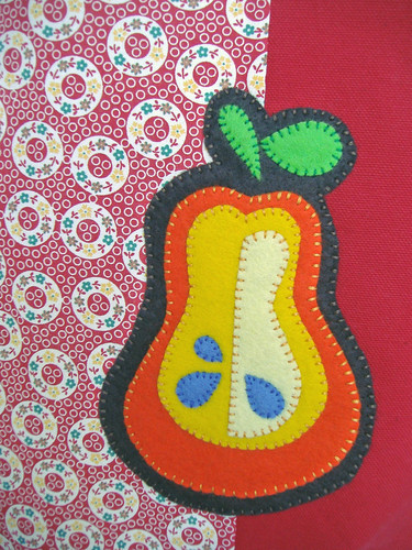 Felt Peach Applique
