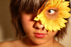 Angela and the Sunflower 2 (lindsay rogerson) Tags: sunflower angela potrait photshoot thebestyellow