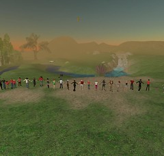 Human Chain in Second Life, protest against violence in Burma